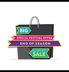 creative big clearance sale banner using shopping vector image