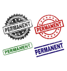 Damaged textured permanent stamp seals vector