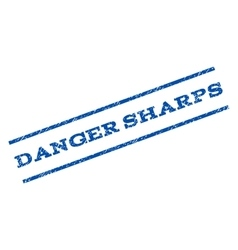 Danger Sharps Watermark Stamp vector