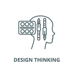 design thinking line icon linear concept vector image