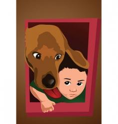 dog door vector image