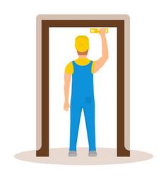 Door installation vector