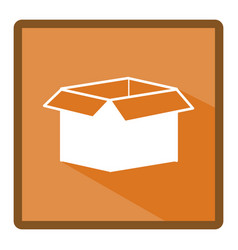 Emblem box open icon vector