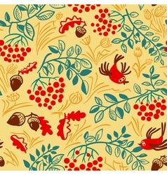 Fall season seamless pattern vector