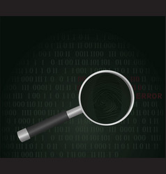 finding hacker concept vector image