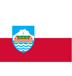 Flag of nuuk is the capital city of greenland in vector