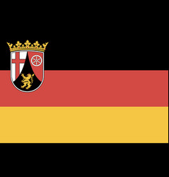 flag rhineland-palatinate vector image