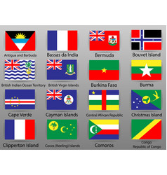 flags of all countries of the world part 12 vector image