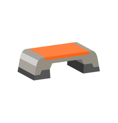 flat icon of step platform exercise vector image