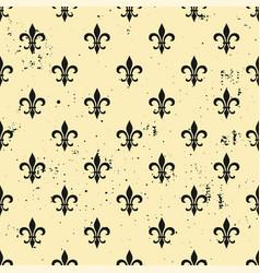 Fleur-de-lis seamless pattern ols style template vector