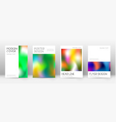 Flyer layout minimal fascinating template for bro vector