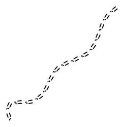 footprints of the rabbit vector image