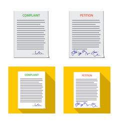 Form and document logo set vector