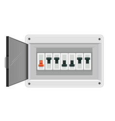 Fuse board box electrical power switch panel vector