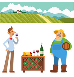 Garden people character agriculture farm harvest vector