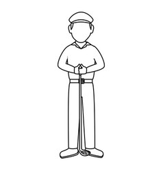golf player with club avatar character vector image
