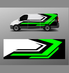 Graphic abstract wave designs for wrap vehicle vector