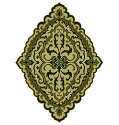 Green medallion for design vector