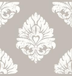 Grunge damask seamless pattern element vector