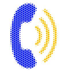 Halftone dot phone ring icon vector