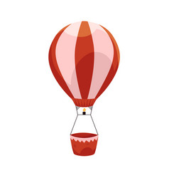 hot air balloon ride in amusement park vector image