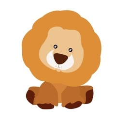 Isolated teddy lion vector image