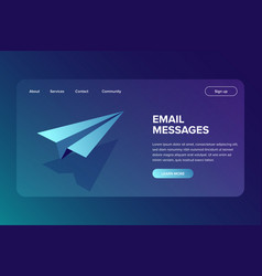 Isometric email and message sending concept vector