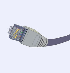 Lan cable network internet vector