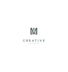 Letter mw writing creative business logo design vector