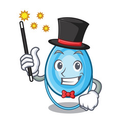 Magician oxygen mask mascot cartoon vector
