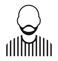 Man with beard avatar simple icon vector