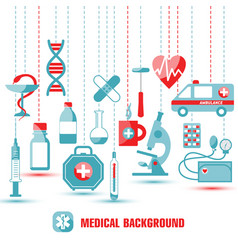 Medical icon set of icons in flat vector