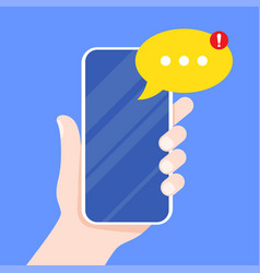 mobile messenger app for texting messages vector image