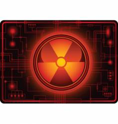 Nuclear sign micro schema vector