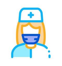nurse paramedic icon outline vector image