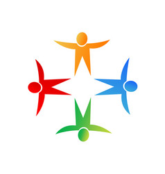People working together star shape symbol logo vector