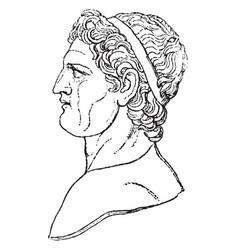 Ptolemy in profile vintage vector