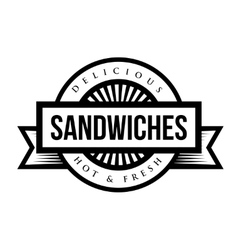 Sandwiches vintage stamp vector