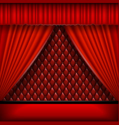 Scene with red curtains vector