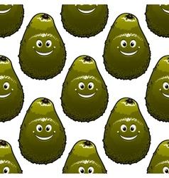 Seamless background pattern avocado vector