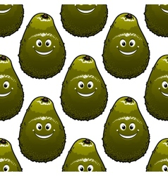 Seamless background pattern of avocado vector image