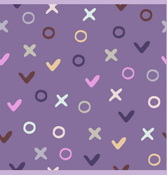 seamless background pattern with graphic symbols vector image