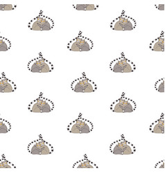 seamless pattern with pair of hugging adorable vector image