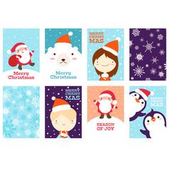 set christmas gift tag vector image