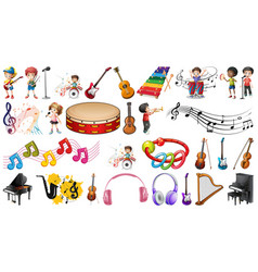 Set musical objects vector