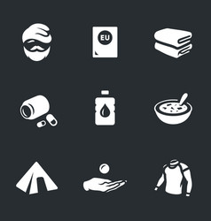 Set refugee icons vector