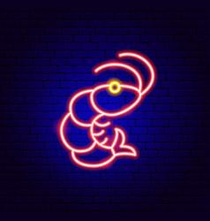 Shrimp neon sign vector