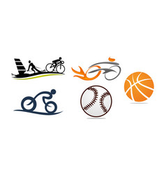 sport template set vector image