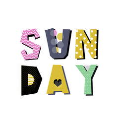 Sunday lettering vector