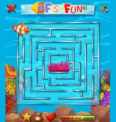 underwater maze puzzle game vector image